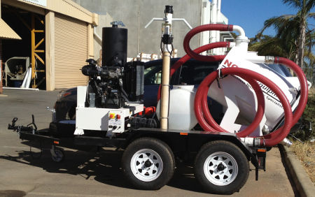 VM500 vacuum excavator trailer diesel now available for hire in Sydney, Melbourne and Perth.